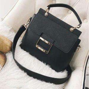 Handbags - NEW Emma Leather Buckle Bag (Black)